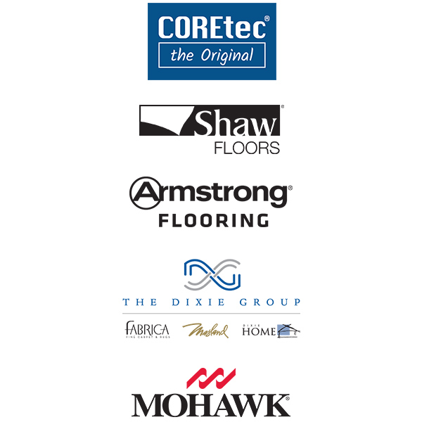 Coretec | Shaw Floors | Armstrong Flooring | The Dixie Group - Fabrica, Masland, Dixie Home | Mohawk