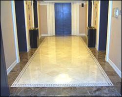 Elevator lobby tile